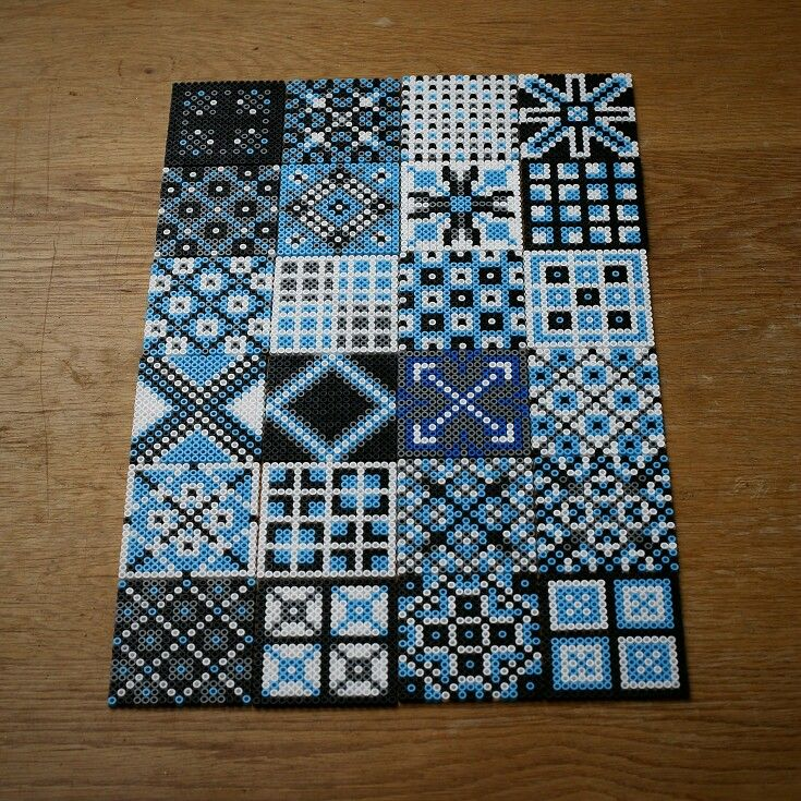 Hama perler bead tiles by Villi.ingi. strijkkralen Marokkaanse of Portugese tegeltjes