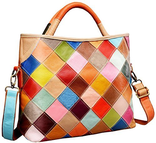 Heshe Womens Multicolor Shoulder Bag Hobo Tote Handbag Cross Body Purse Colorful2B4029 ** Click image for more details.