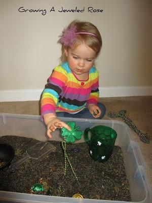 Thistle seed treasure hunt (St. Patricks Day)