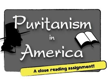 Puritanism in America: What was this religion like? A guide to Puritanism! This Puritanism short, close-reading assignment is also part of the Pilgrims bundle, located here, or