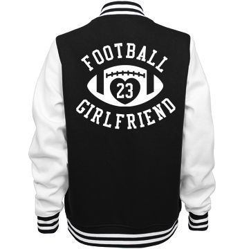Football Girlfriend Coat | Make a football girlfriend coat to show love for your football boyfriend this season. Wear it in the cool fall and winter stadiums and to practice.