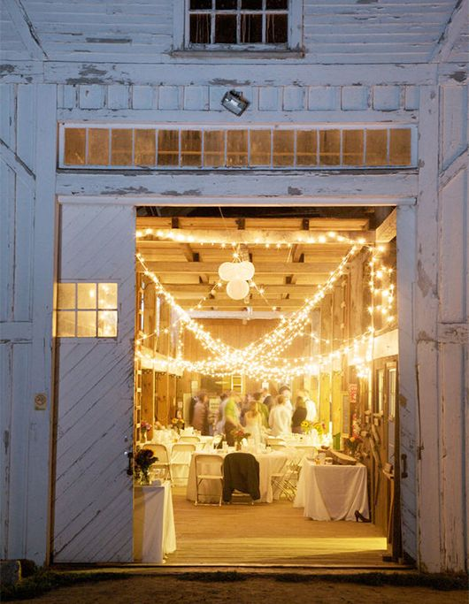 wedding reception inside an unsuspecting barn!