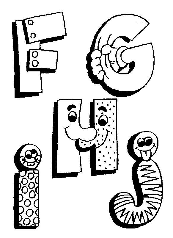 Coloriage Alphabet !