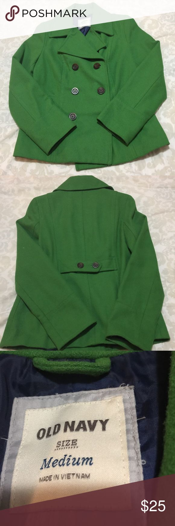 Green old navy pea coat In very good condition no rips or stains. Prices are negotiable make me a offer. Old Navy Jackets & Coats Pea Coats