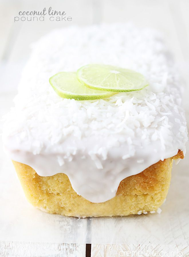 Incredibly moist lime-flavored pound cake with a decadent but simple coconut lime glaze!
