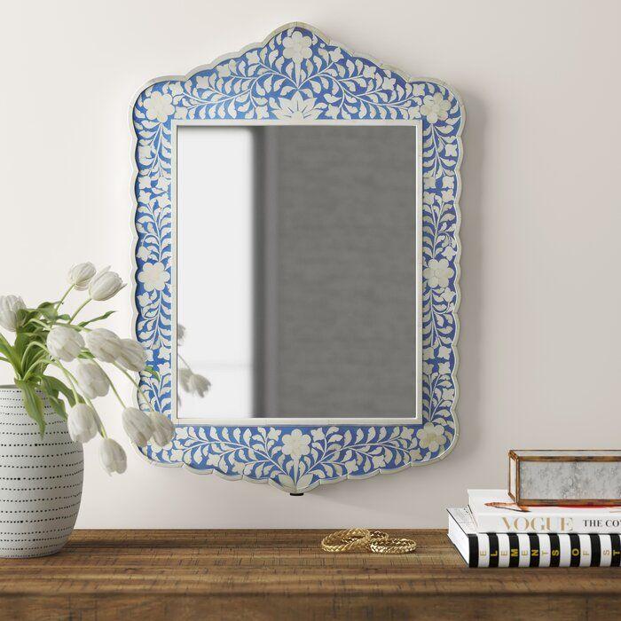 Alayna Botanic Bone Inlay Traditional Beveled Accent Mirror Reviews Joss Main In 2020 Bone Inlay Accent Mirrors Bohemian Mirror