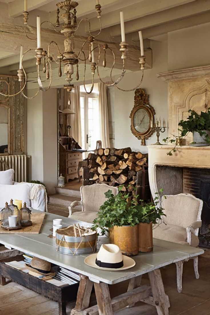 A serene balance of rusticity and elegance suffuses the furnishings Sophie Lambert lovingly gathered for her home in France.