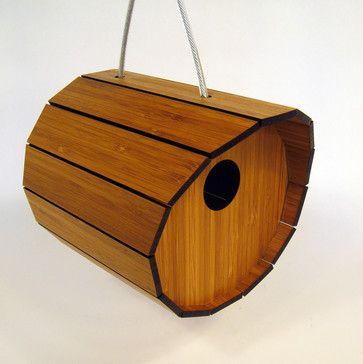 Bamboo Birdhouse - Contemporary - Birdhouses - by Supermarket