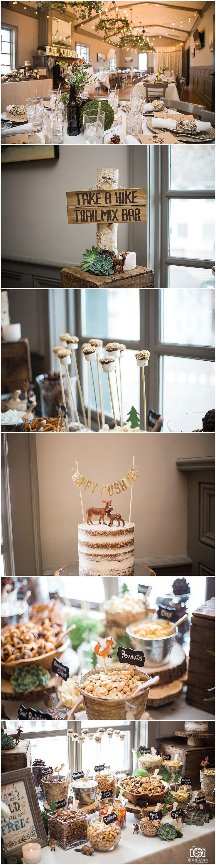 Woodland Theme Baby Shower Woodsy Boho Themed Boy Decor Ideas Piermont NY Push cake
