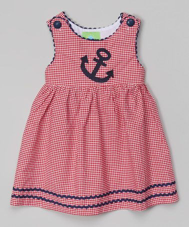 This Red & Black Gingham Anchor Dress - Infant, Toddler & Girls by Lil Cactus is perfect! #zulilyfinds