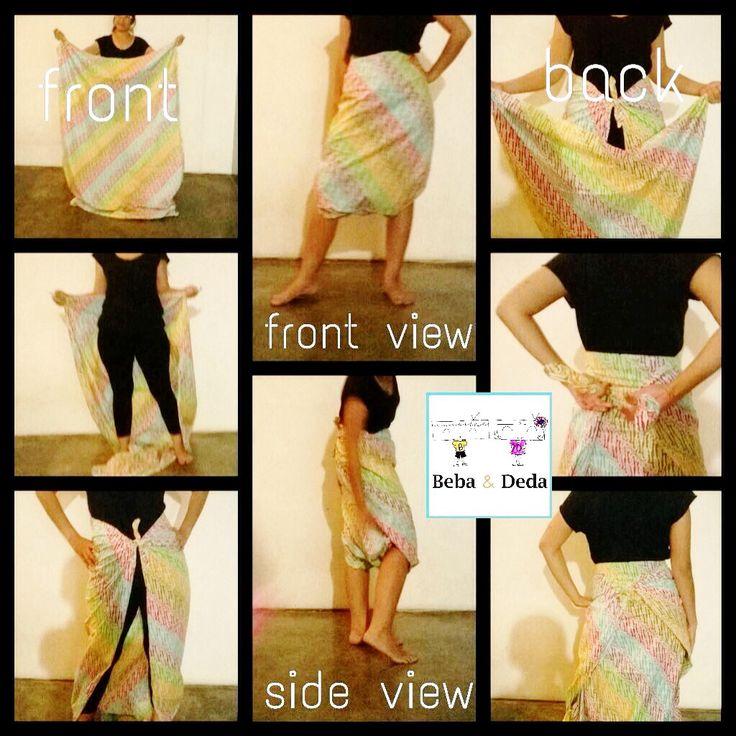 No sew batik pants tutorial. instagram: bebaanddeda