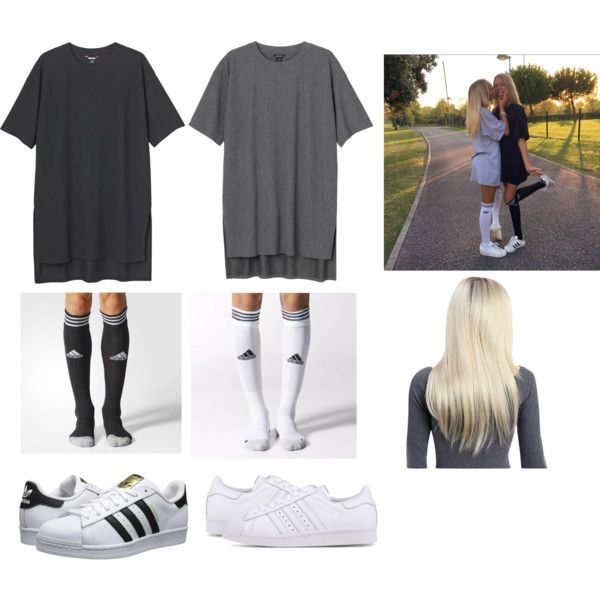 Lisa and Lena by aleesha198 on Polyvore featuring polyvore, fashion, style, Monki, adidas Originals, adidas and clothing