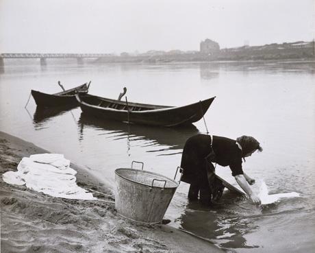 lavaggio nel fiume Po