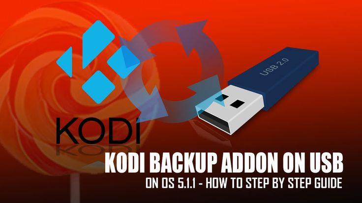 Kodi Backup On USB ThumbDrive on OS 5 .1.1