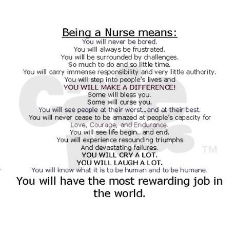 Being a Nurse means...