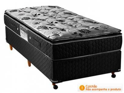 Box para Colchão Solteiro 88x188cm - Mannes Diamond Black com as melhores condições você encontra no Magazine Tradelux. Confira!