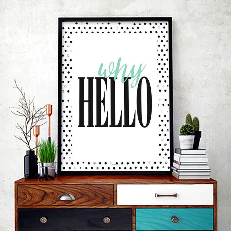 Plakat:  Why hello
