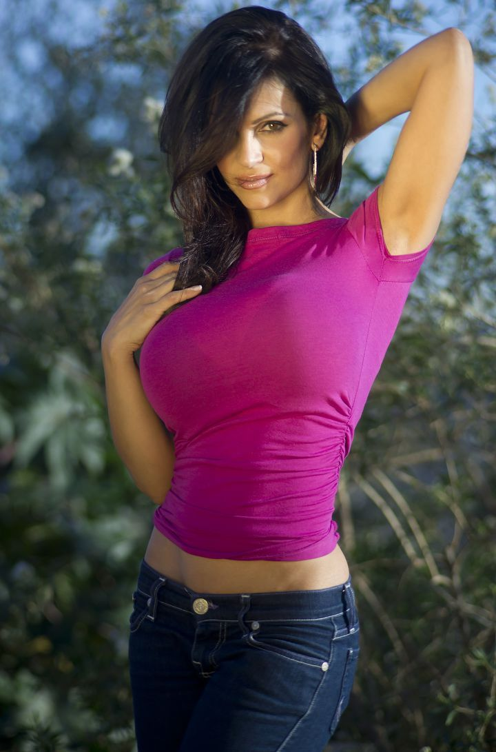 Denise Milani- Sitting in the Sun | Beautiful Denise Tribute Page ...
