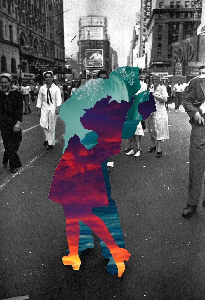 Trabajo realizado sobre la famosa foto del beso en Times Square tras la Segunda Guerra Mundial.