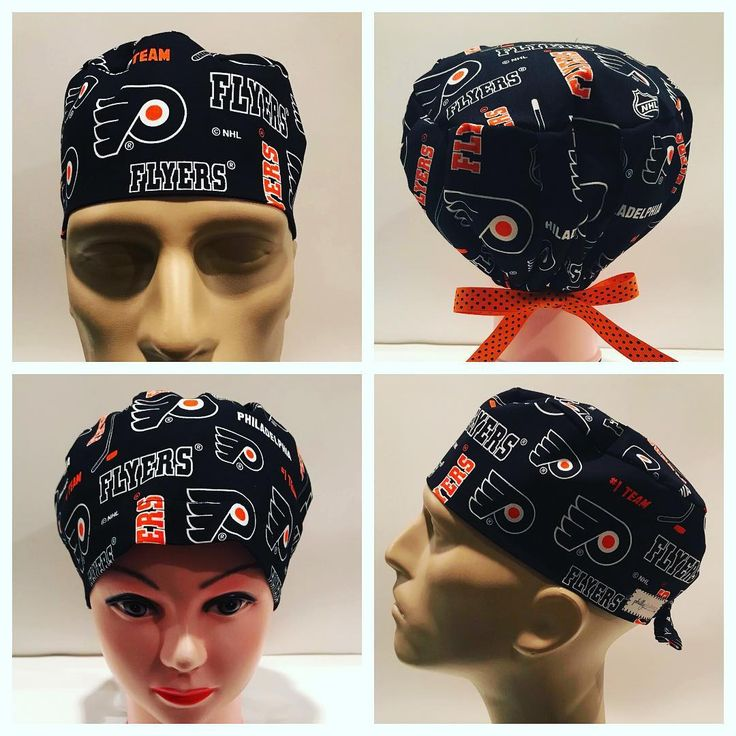 Flyers Hockey!  #philadelphiaflyershockey #philadelphiaflyers #flyersscrubs  #phillyphabrics #sewnwithlove #surgicalscrubhats #chemohats #medicalfashion #nurse #CRNA #anesthesia #ORhats  https://www.etsy.com/shop/PhillyPhabrics