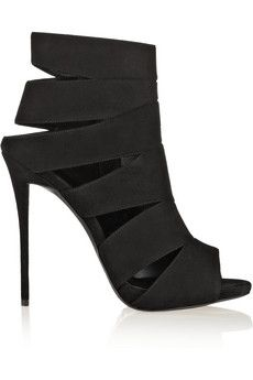 Giuseppe Zanotti Coline cutout suede sandals | THE OUTNET