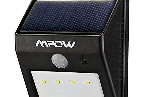 8 LED eclairage exterieur imperméable, Mpow eclairage terrasse Sans Fil Détecteur de Mouvement avec Mode Intelligent, Éclairage de Sécurité…