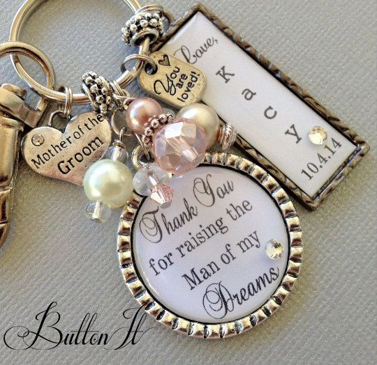 MOTHER of the Groom gift- PERSONALIZED wedding, Mother of bride gift, thank you raising man of my dreams, thank you gift, blush pink silver