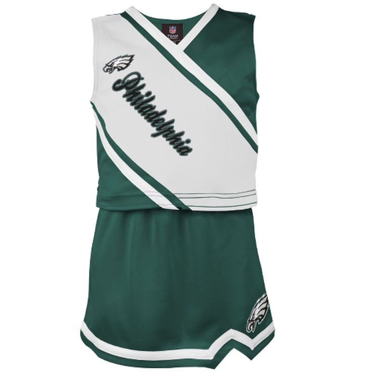 Philadelphia Eagles Girls Toddler 2-Piece Cheerleader Set - Midnight Green - $33.99