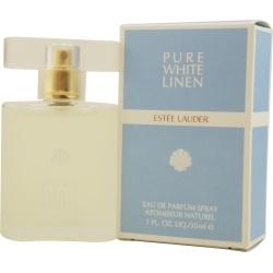 Pure White Linen van Estée Lauder is een bloemig en fris parfum voor dames met citrus, perzik en aldehyde aan de top, met jasmijn, roos, hyacint, ylang-ylang, sering en anjer in het hart en benzoë, amber, tonkaboon, honing en cederhout aan de basis