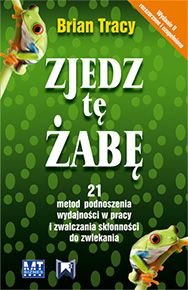 """""""Zjedz tę żabę"""" to książka dla ludzi biznesu. Ta przekonująca metafora, """"ogromna żaba"""" czekająca na zjedzenie, to twoje największe, najważniejsze zadanie, z którego realizacją będziesz prawdopodobnie zwlekał, jeśli nie zajmiesz się nim od razu. @Brian Tracy  Cena książki - ok. 22zł"""