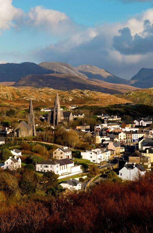 Picturesque Clifden in Connemara, County Galway.