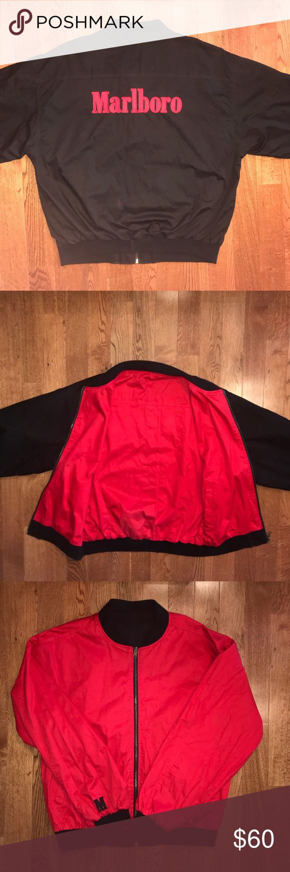 Rare vintage reversible Marlboro jacket Super dope rare vintage reversible Marlboro jacket with beautiful big logo embroidered  Tagged xxl, fits closer to a men's large / xl Excellent condition no stains or flaws marlboro Jackets & Coats