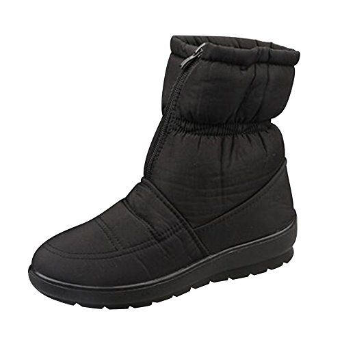 Topteck Womens Ladies Snow Boots Faux Fur Lined Thick Sole Waterproof Ankle Boot Shoes * Visit the image link more details.