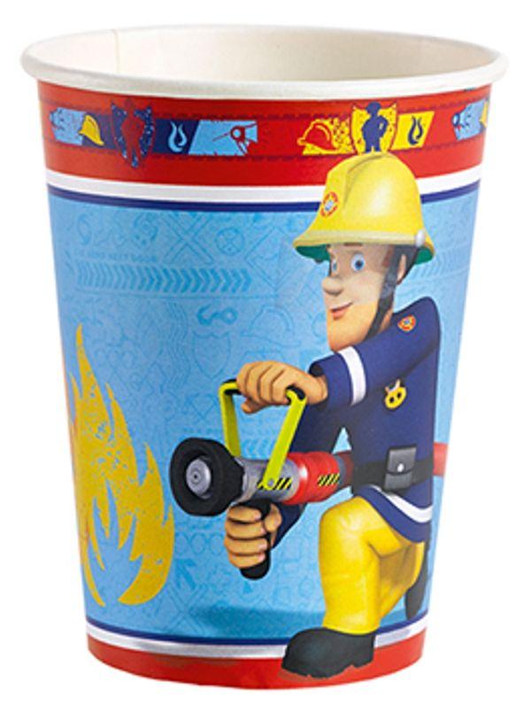 Partybecher-Feuerwehrmann-Sam-Fireman-Sam-Trinkbecher-Plastikbecher