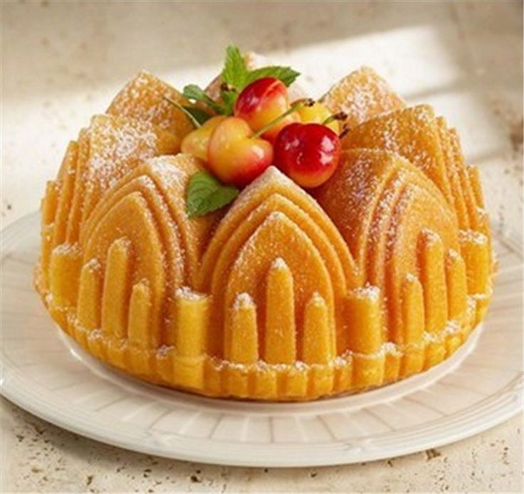 Bake Tools Large Bread Mould Pan Happy Birthday Big Crown Castle Church Cake Mold Silicone Food-Grade Chiffon Cake Molds