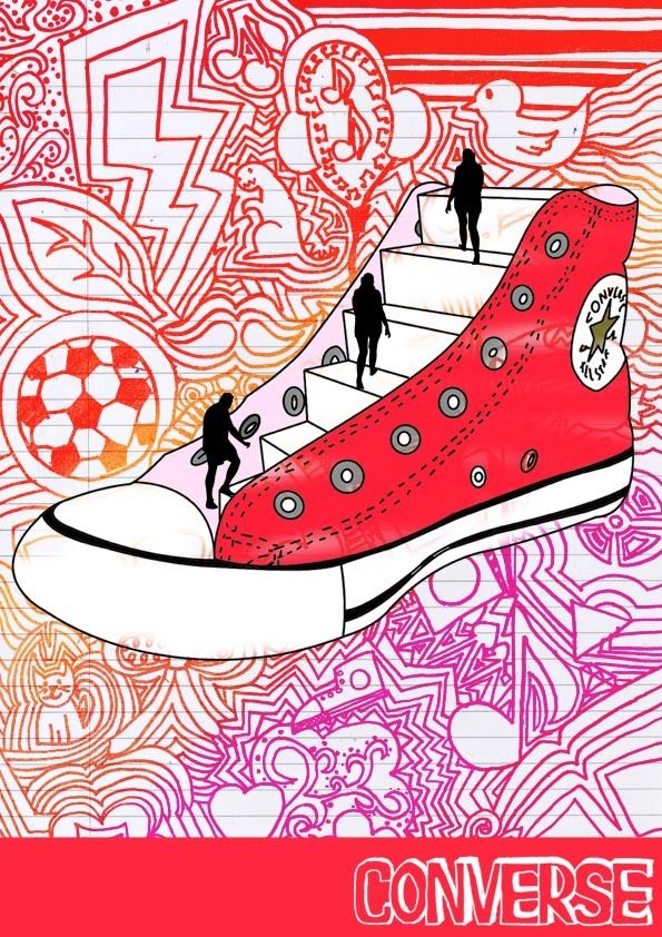 AS Graphics - Unit 2 Converse Posters by Rosie Murray, via Behance