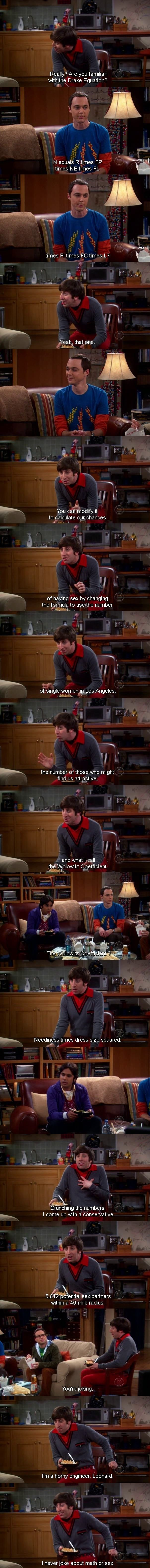 The Wolowitz Coefficient - funny-scenes.com