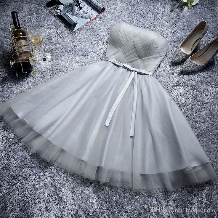Light Gray Bridesmaid Dresses Knee Length Purple Wedding Guest Dress Sexy Strapless Lace Up With Zipper Back Knee Length Affordable Bridesmaid Dresses Blush Pink Bridesmaid Dresses From Lpdqlstudio, $74.35| Dhgate.Com