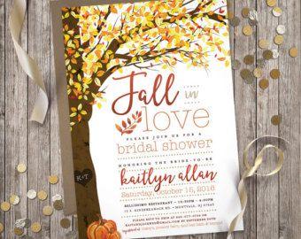 Fall in Love  Fall Rehearsal Dinner Invitation Digital file