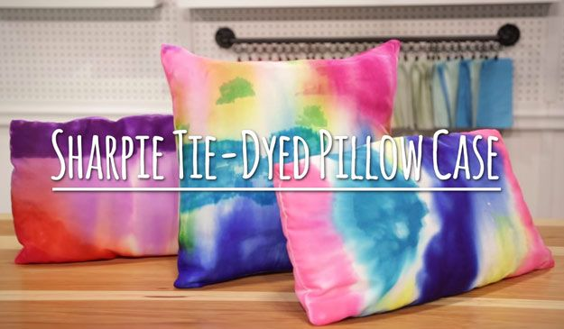 DIY Sharpie Pillows Tutorial - How to Make Sharpie Pillows and Room Decor Ideas for Teens