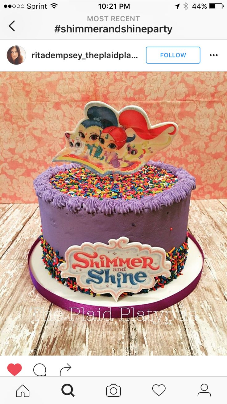 Shimmer And Shine Cake Shimmer Amp Shine Party Pinterest