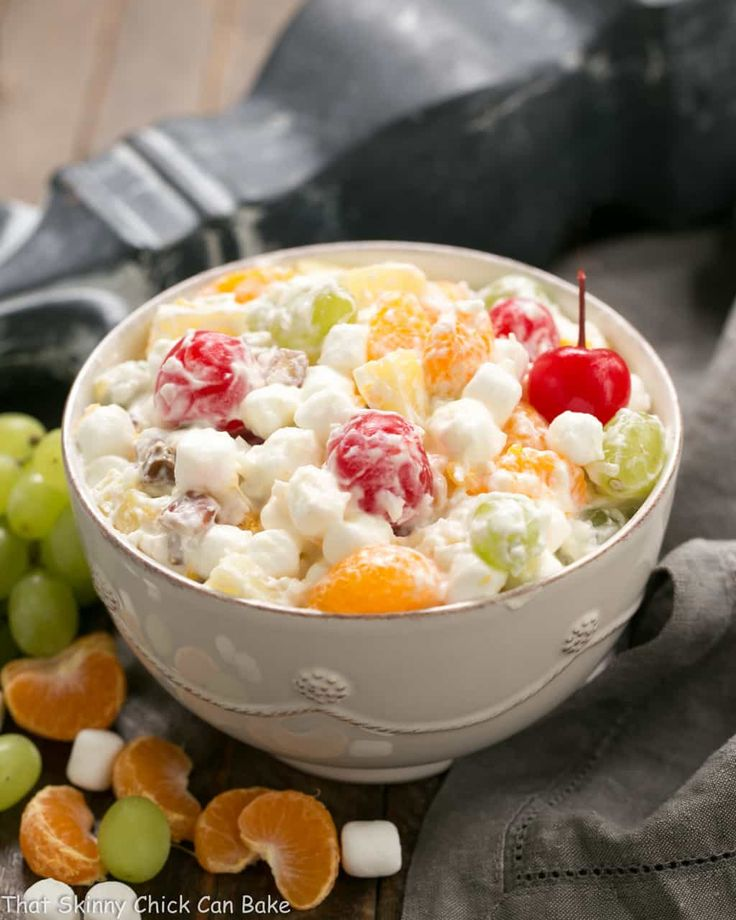 My great grandmother's fruit salad always graced our holiday table. For a delicious alternative, my Best Ambrosia Salad is incredibly delicious! And as a bonus, there's no Cool Whip in the dreamy dressing. Note: This post may contain affiliate links; view my Disclosure Policy for details.  I earn a small percentage from any purchase you make by clicking on these links. This helps me keep my kitchen stocked with butter and chocolate! Best Ambrosia Salad My first exposure to an ambrosia...
