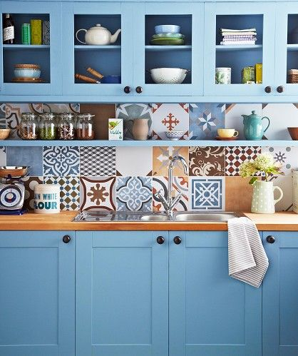 Really love the idea of these tiles – not for the whole wall but buy a few to make feature of them –––– Stamford Topps Tiles