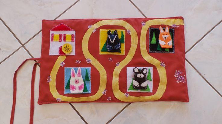 Min tapis de conte Roule galette, avec marionnettes à doigts