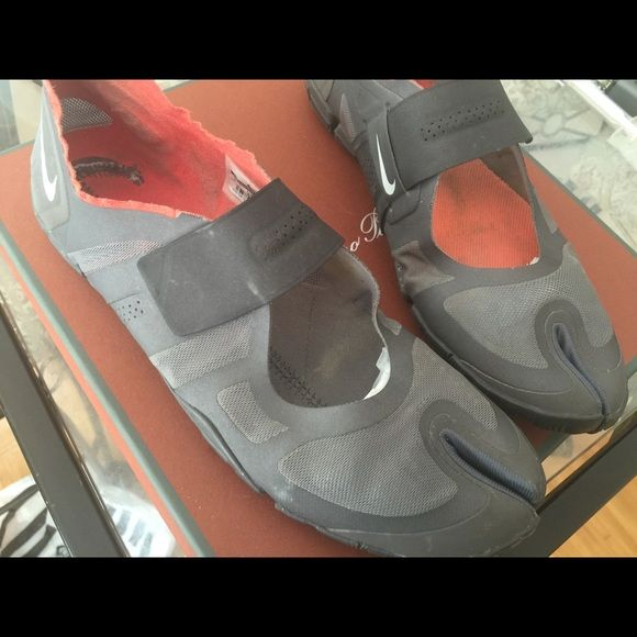 Nike women's Gray orange Nike water shoe one insole missing Nike Shoes Athletic Shoes