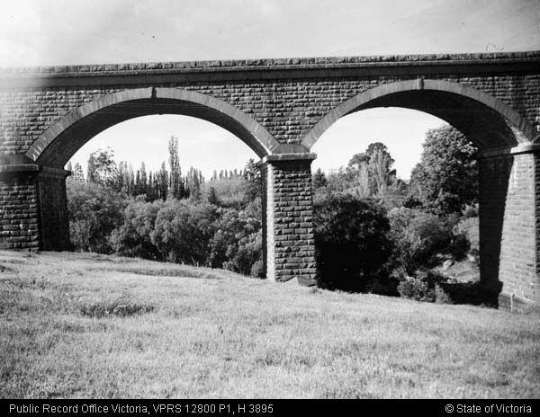 Malmsbury viaduct west side November 1945