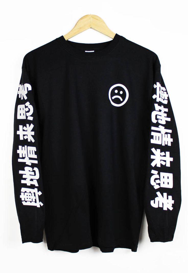 Unknown Death 2002 Long Sleeve T Shirt Tee Top Sad Boys Yung Lean L New | eBay