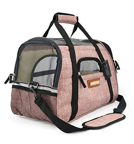 Premium Pet Travel Carrier, Airline Approved, Soft-Sided, Comes with Two Pet Mats, Perfect for Small Dogs and Cats (Blush Tan) * Continue to the product at the image link.-It is an affiliate link to Amazon.