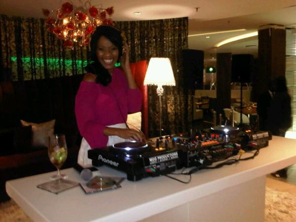 Hotel - Crowne Plaza Johannesburg - The Rosebank - SA Fashion Week - Poppy Ntshongwana was the resident DJ for the 1st day of South African Fashion 2012 Spring/Summer Collection.