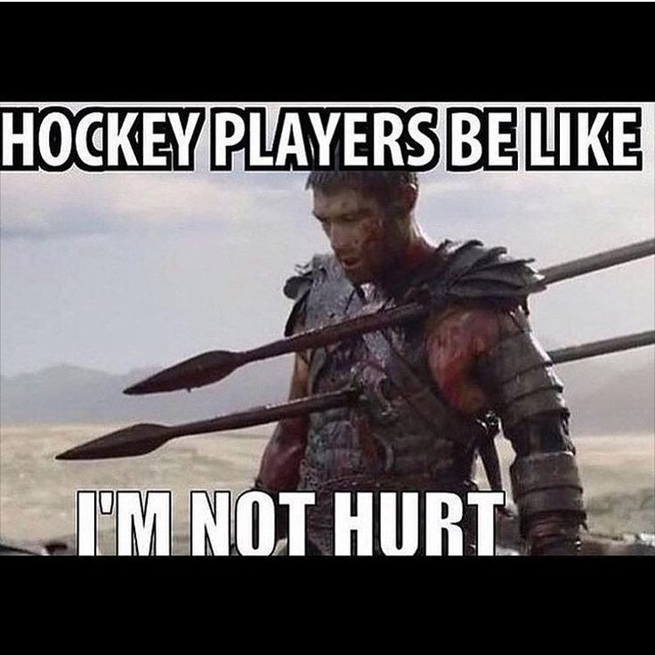 "hockey_memes_forever: ""Like if you agree that hockey players are tough!!!!! PC: @jakequigley27 DM me funny memes!!!"""